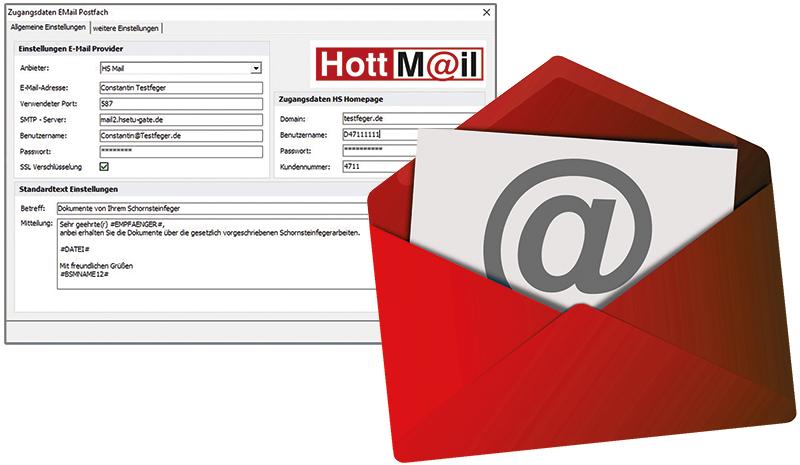 Der digitale Dokumentenversand in KAMIN Futura, HottMail